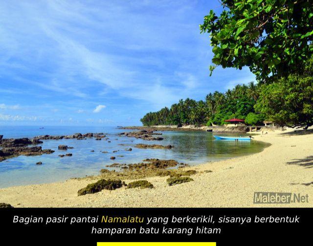 Pasir Pantai Namalatu Latuhalat Ambon