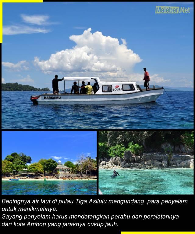 Penyelam di Pulau Tiga - Asilulu