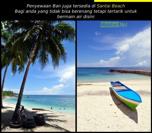 Penyewaan Ban santai beach Latuhalat - Ambon